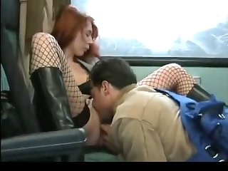 Horny bitch is getting will not hear of pussy eaten extensively by some random man on a habituate