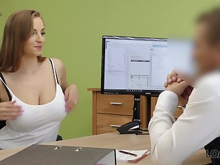 Pupil with D-cups boobs Suzie is ready for undesigned sex to get a loan