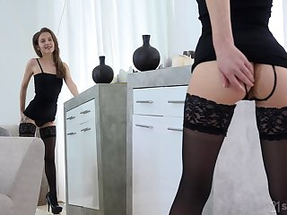 Adorable looking girl Stasia Si is making love thither her indecent fetish boyfriend