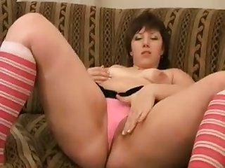 This chubby chick loves masturbating just as A much as A she loves eating