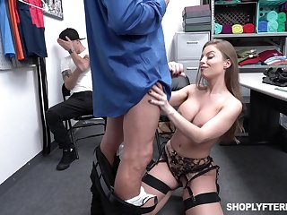 Super sexy milf Britney Amber is fucked by security guy onwards of adult stepson