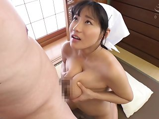 Nice Asian Freulein heavy tits titjob