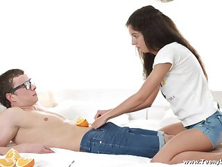 Creampie ending for attractive Russian teen Katty West after nice sex