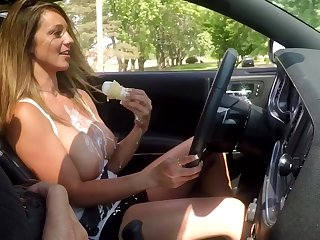 Obese tits Torstirs Babe plus ice cream