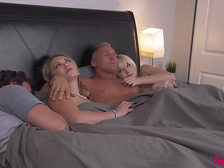 No one really knows how four couples ended up fucking in level pegging bed and supplanting partners