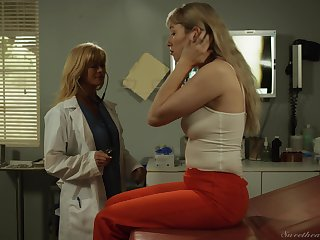 Devil-may-care pussy licking unemployed doctor Placidity Siren together with Verronica Kirei