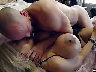 Boobalicious blonde dreamboat Amber Alena gets soundly fucked by her lover