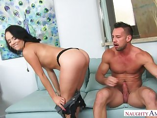 Kristina Rose gender in put emphasize chaise longue with her bubble butt